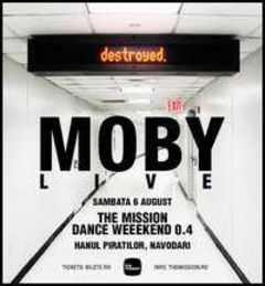 Moby live la The Mission Dance Weekend in august